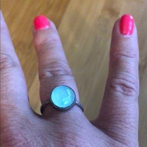 Gorgeous silver ring w/ aqua stone